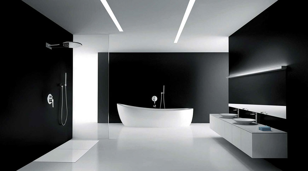 pločice za crno belo kupatilo