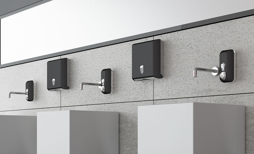 crno beli toalet