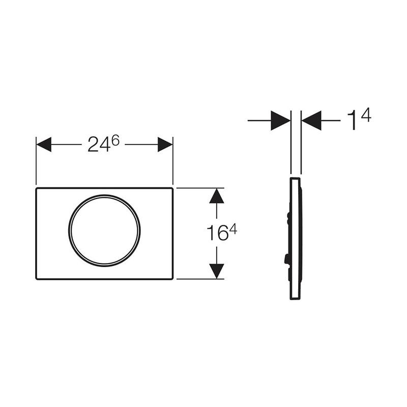Tipka za aktiviranje Sigma 10 bela /sjajna hrom /bela