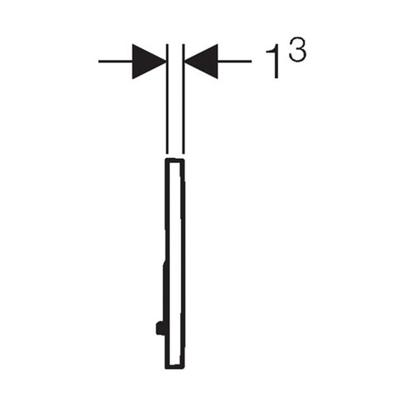 Tipka za aktiviranje Sigma 01 crna RAL 9005