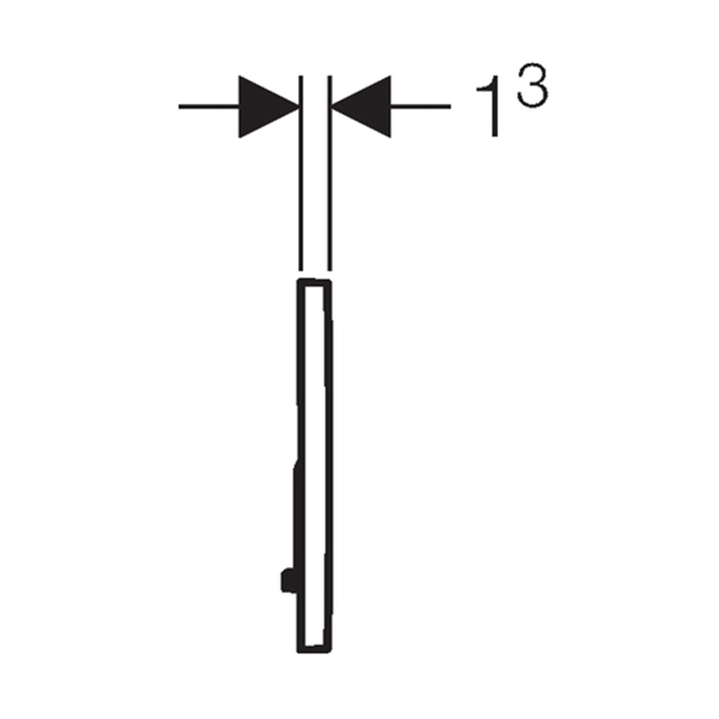 Tipka za aktiviranje Sigma 20 bela /mat hrom /mat hrom