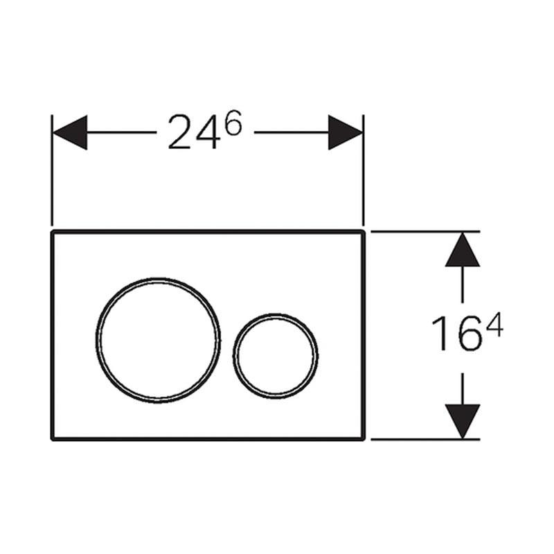 Tipka za aktiviranje Sigma 20 mat hrom /sjajna hrom /mat hrom