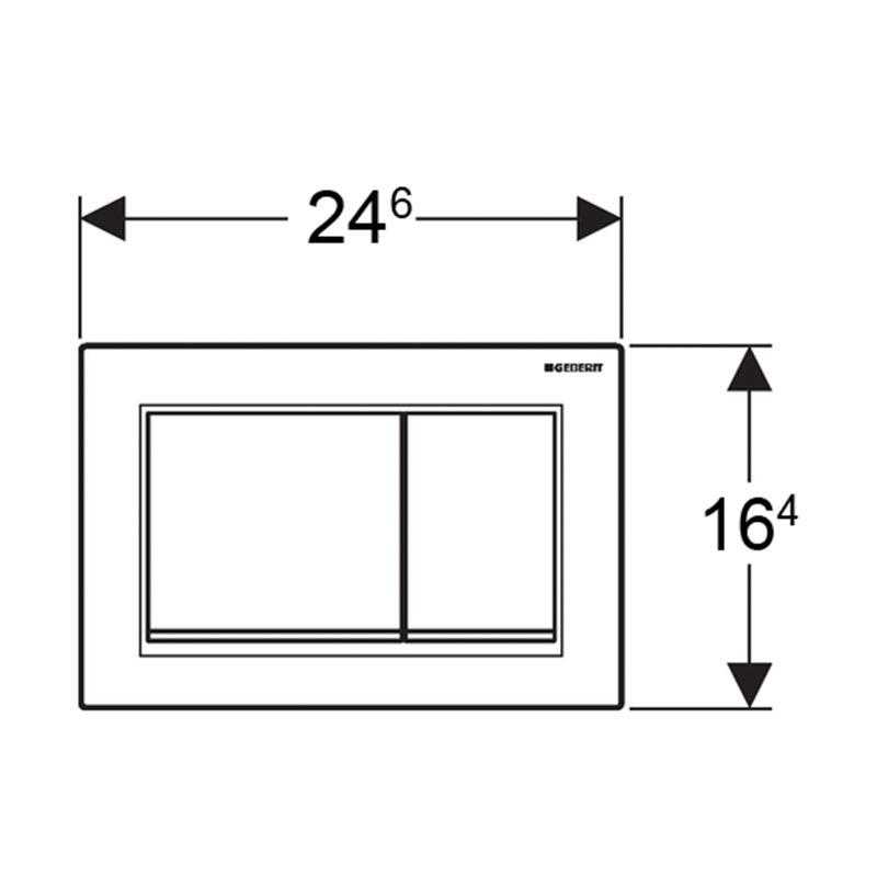 Tipka za aktiviranje Sigma 30 bela /pozlaćena /bela