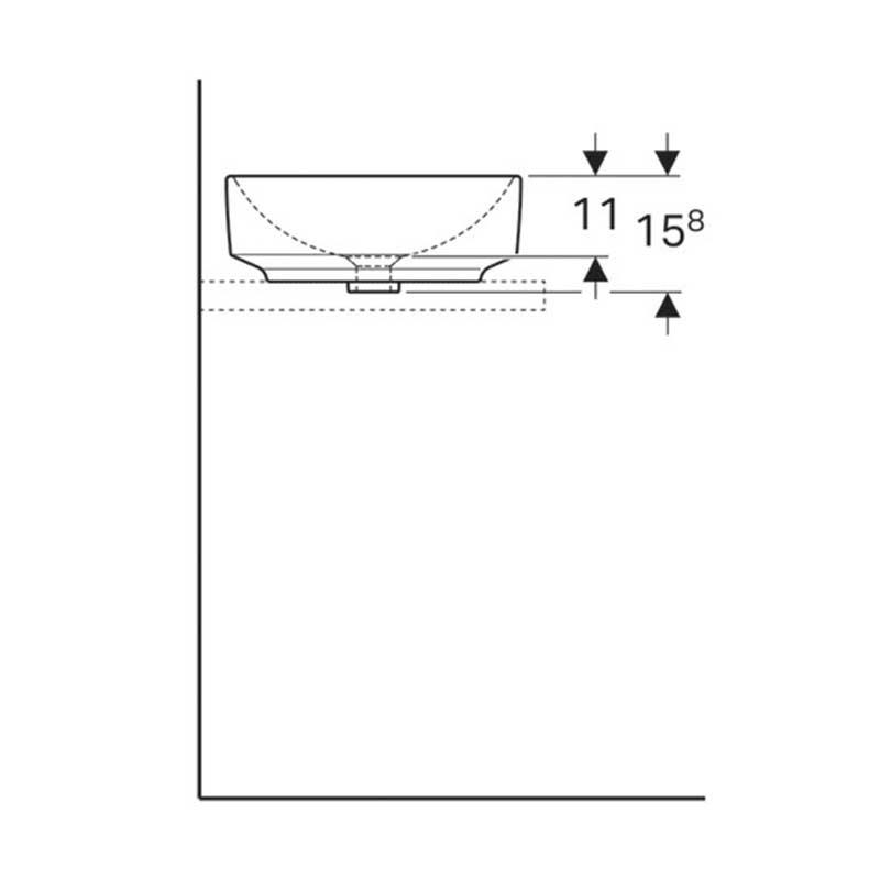 Variform nadgradni lavabo 40cm
