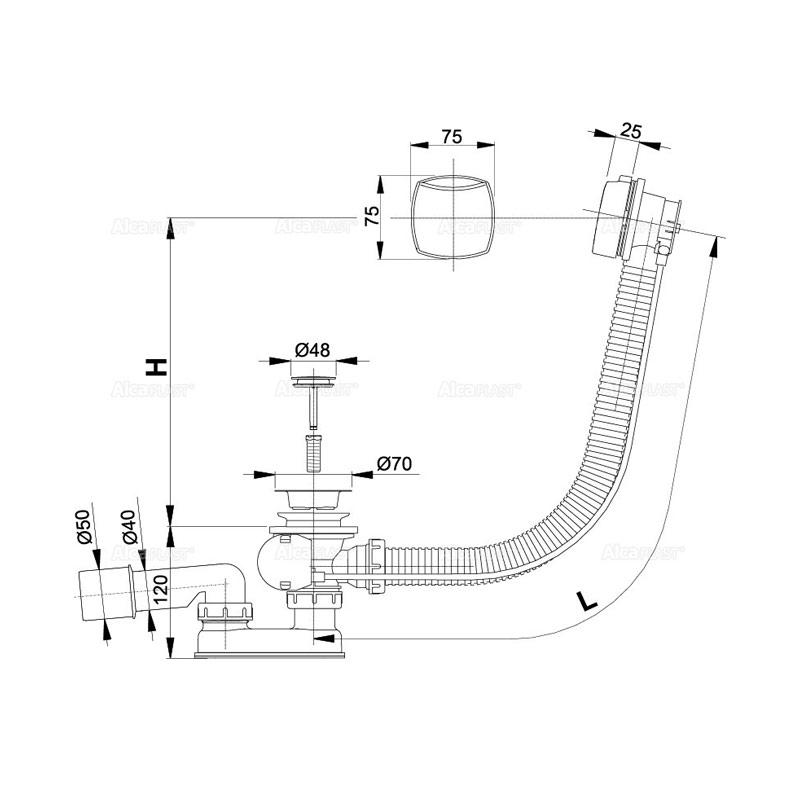 Sifon kade PopUP A55K-57