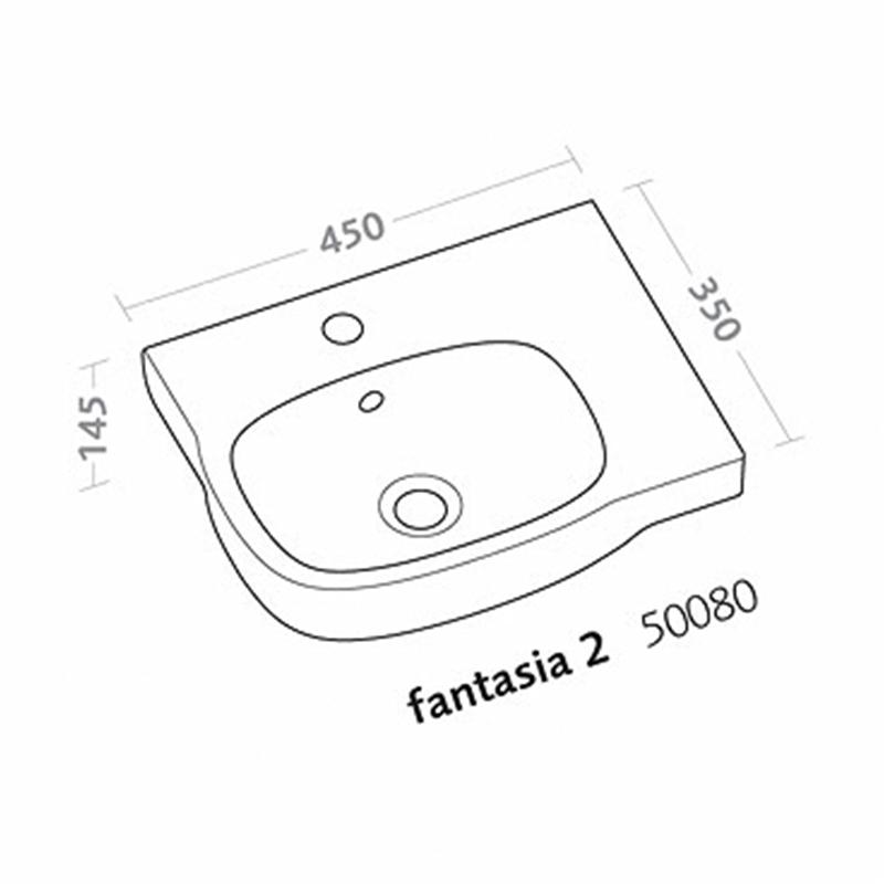 Fantasia 2 lavabo 45cm