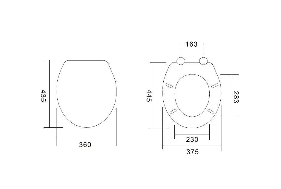 WC daska bela medijapan
