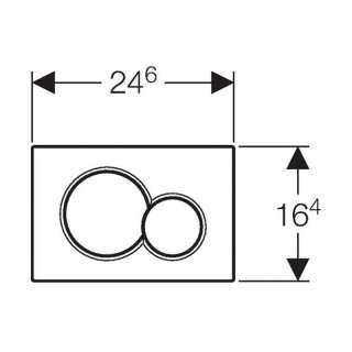 Geberit tipka Sigma 01 crna RAL 9005