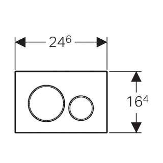 Tipka za aktiviranje Sigma 20 bela /pozlaćena /bela