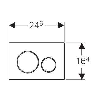 Geberit tipka Sigma 20 bela /mat hrom /mat hrom