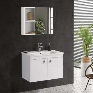 Luna ormarić sa umivaonikom i ogledalom 75cm
