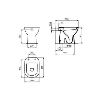 Tempo simplon podna WC šolja