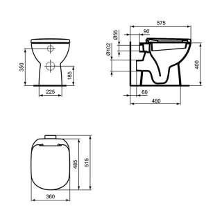 Tempo baltik podna WC šolja