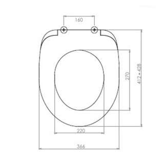 WC daska Akdeniz P