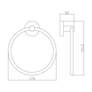 O-ring držač peškira SE30191