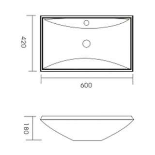 Keramički lavabo WB3910
