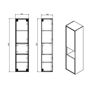 Monca vertikala za kupatilo 160x35cm