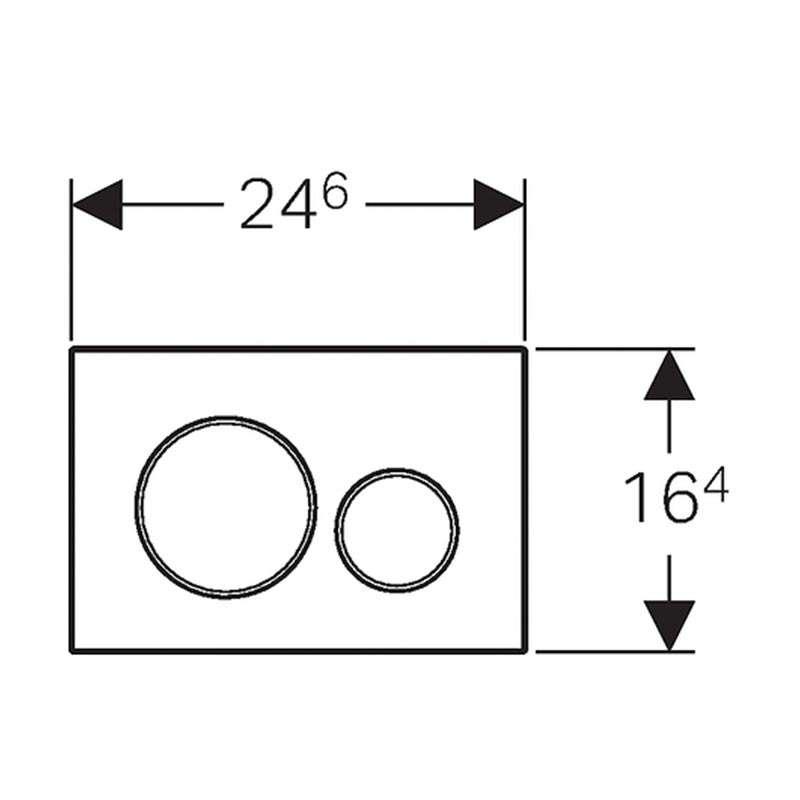 Geberit tipka Sigma 20 crna /sjajna hrom /crna