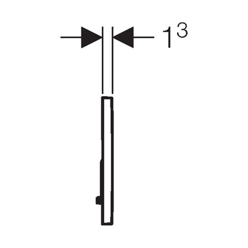Geberit tipka Sigma 20 mat hrom /sjajna hrom /mat hrom