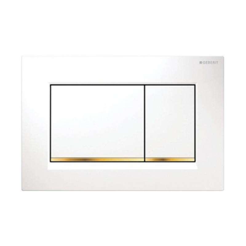 Geberit tipka Sigma 30 bela /pozlaćena /bela