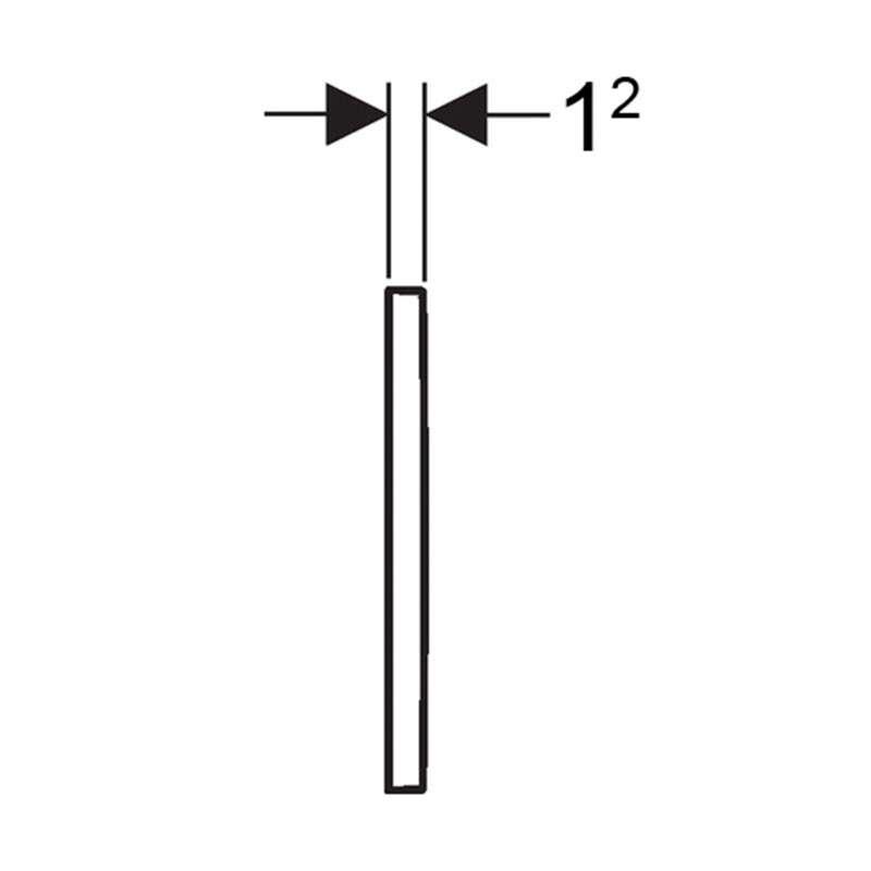 Geberit tipka Sigma 30 bela /mat hrom /mat hrom