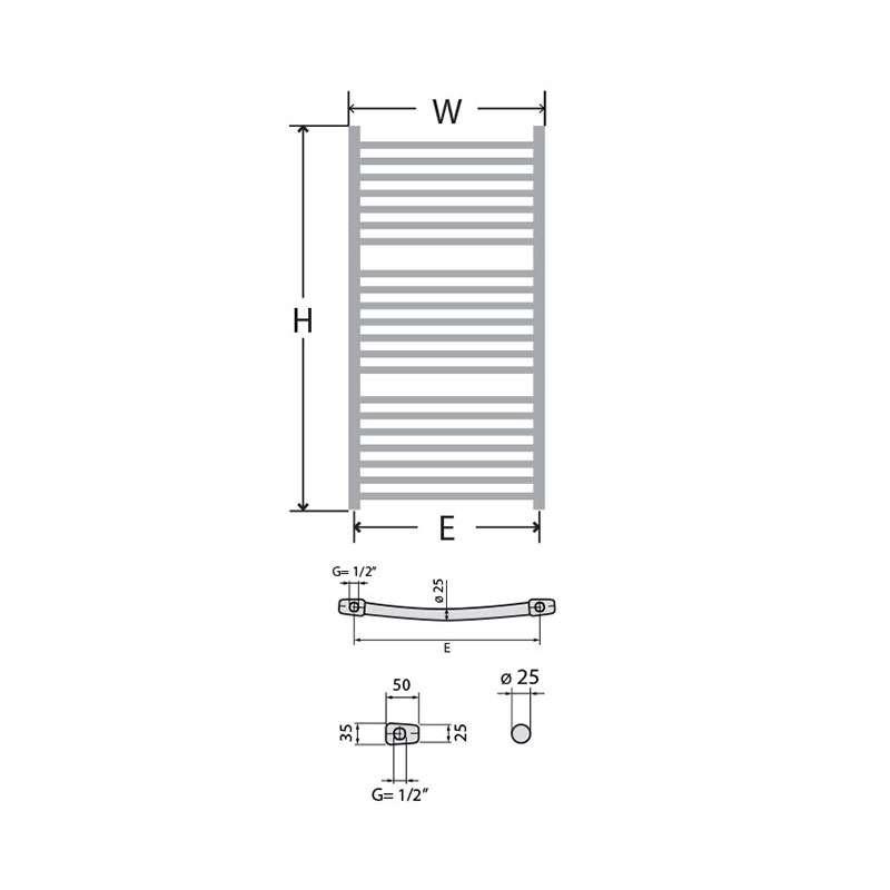 Kupatilski radijator NK Lux 40x186cm