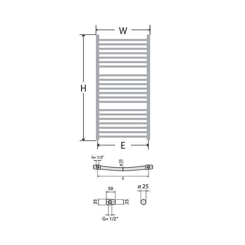 Kupatilski radijator NK Lux 60x112cm