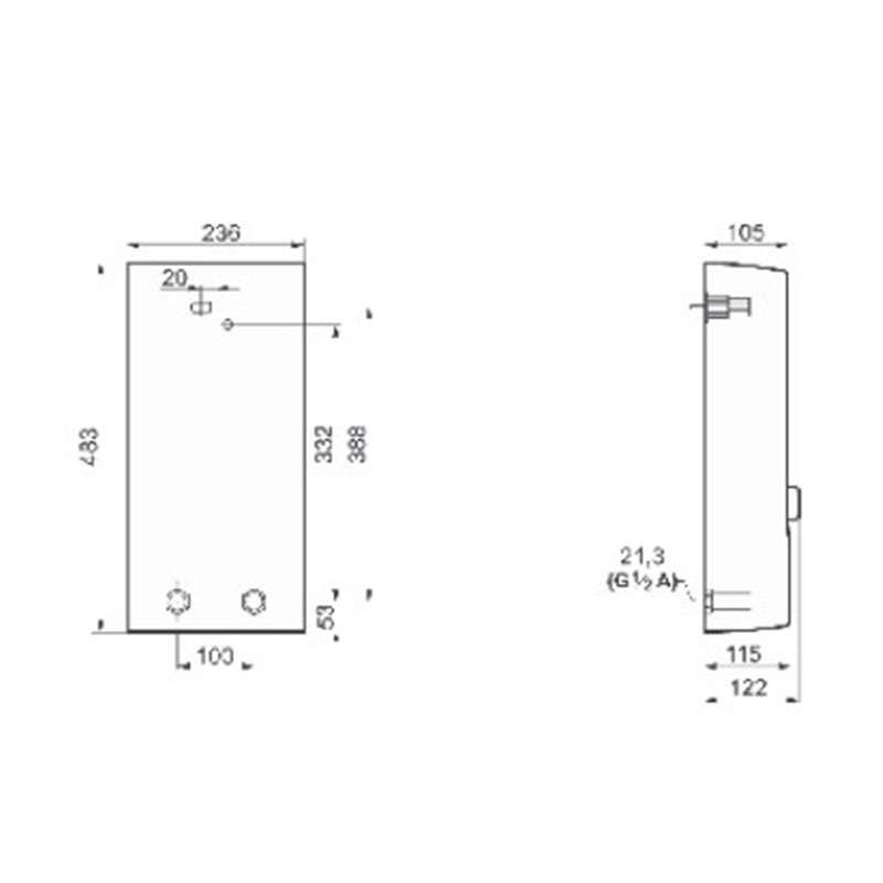 Bosch TR7000 15/18 DESOB protočni bojler