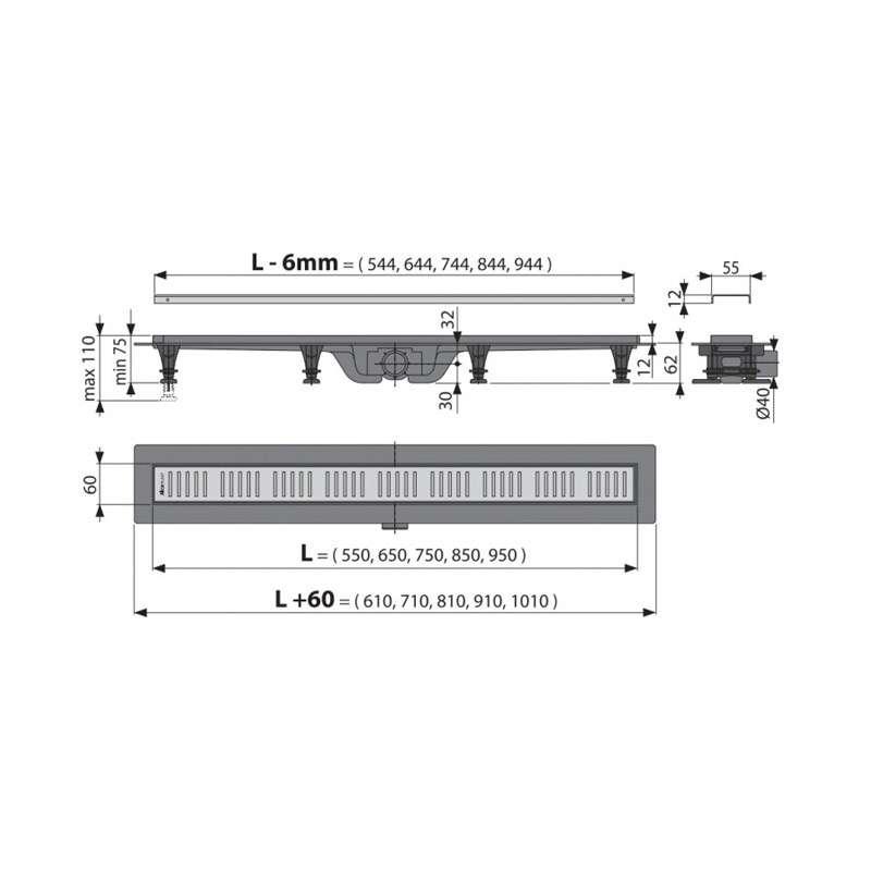Tuš kanalica APZ10-550