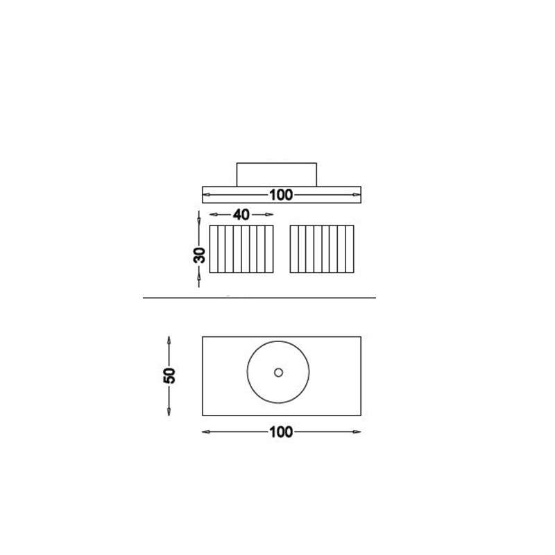 Flex ormarići sa policom  za lavabo 100cm