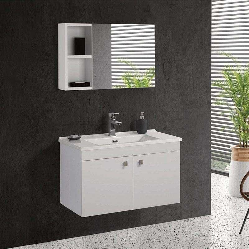 Luna ormarić sa umivaonikom i ogledalom 85cm
