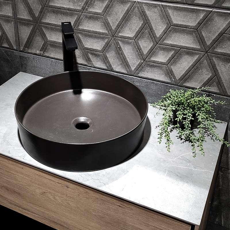 Loop nadgradni lavabo crni 45cm