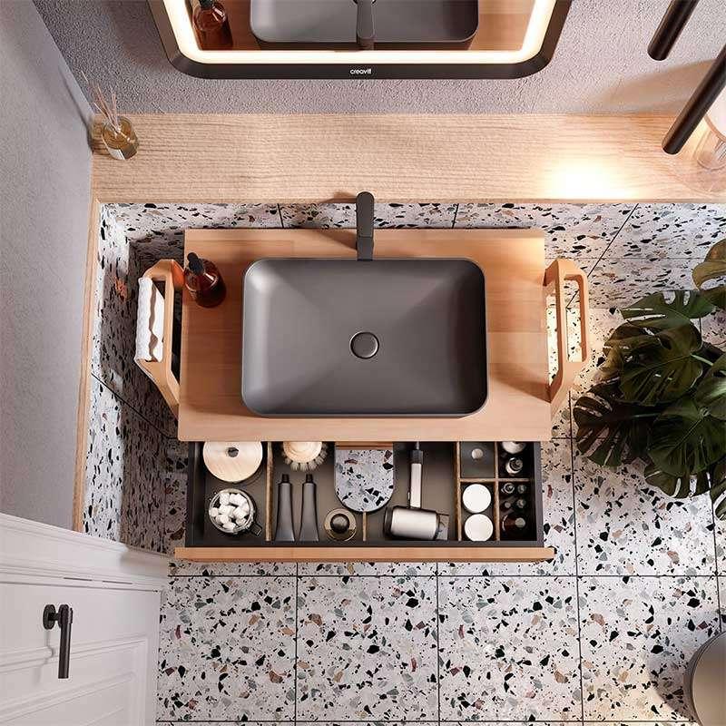 Ultra lavabo Antracite Matt 60x40cm