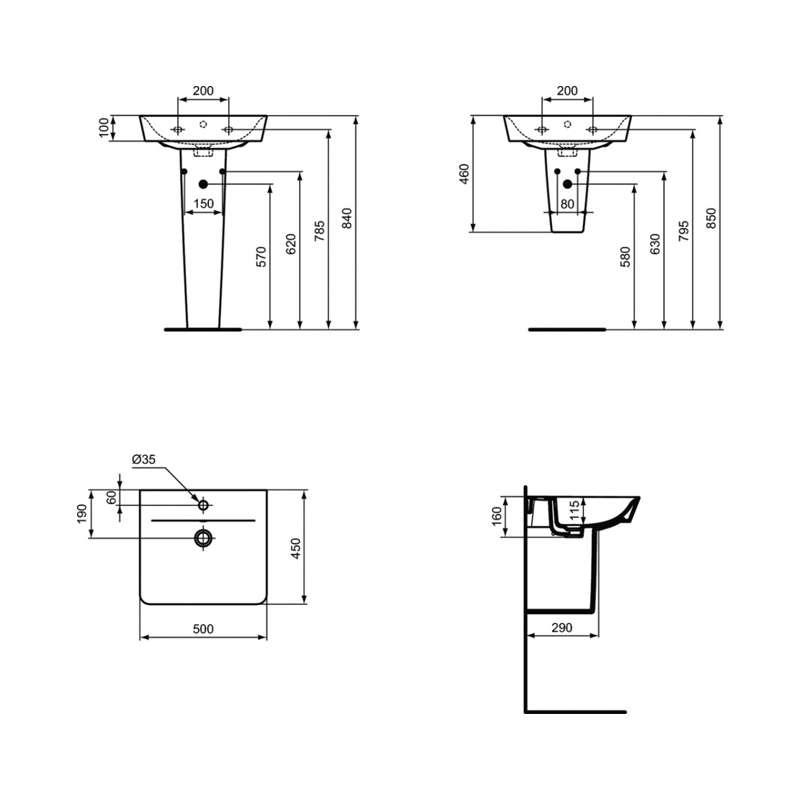 Connect Air lavabo 50