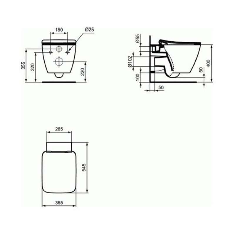 Strada II Aquablade konzolna WC šolja