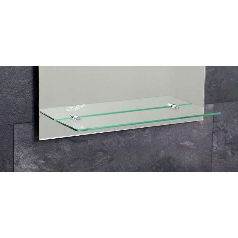 Ogledalo sa lampom i etažerom 50x70cm