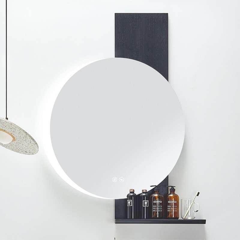 Okruglo ogledalo sa LED svetlom i policom J1575