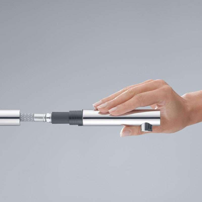 L-ine baterija sa izvlačećim tušem