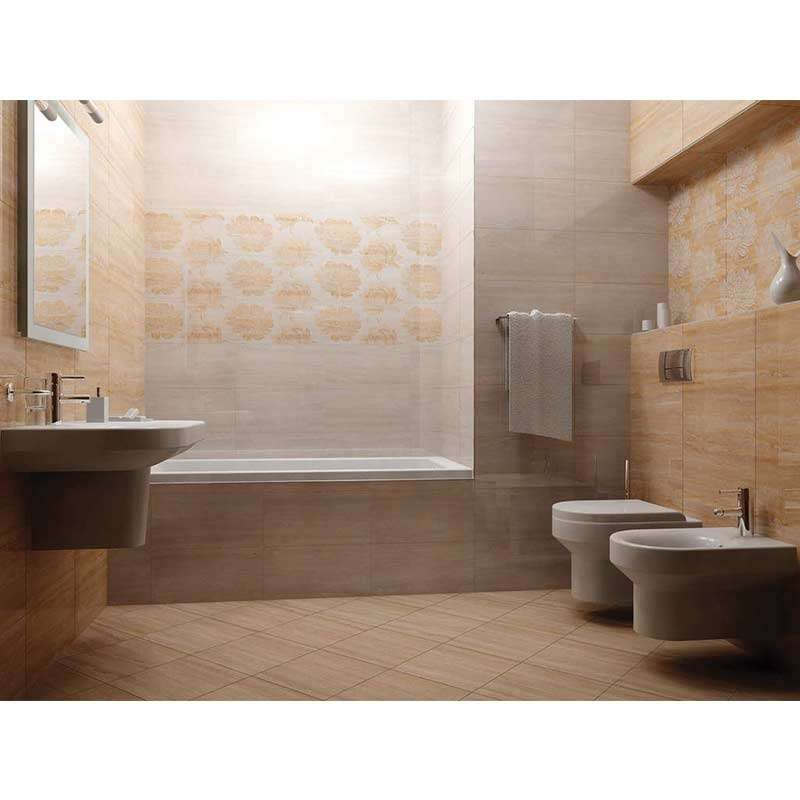 Travertino Muro Floreal 50x25cm
