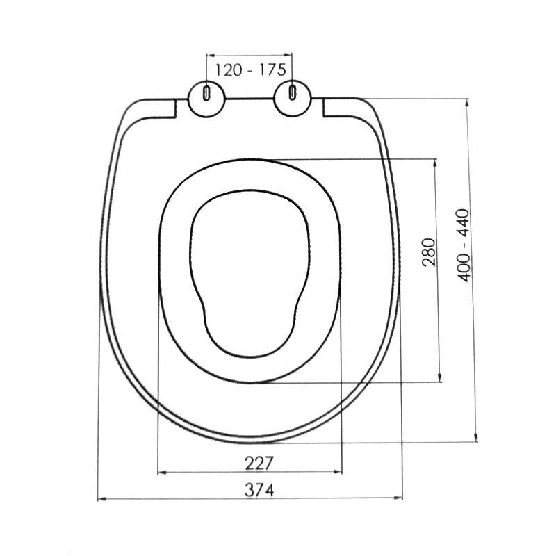Termoplast Univerzal WC Daska