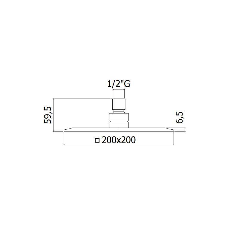 Tuš ruža metalna 200x200x6.5mm