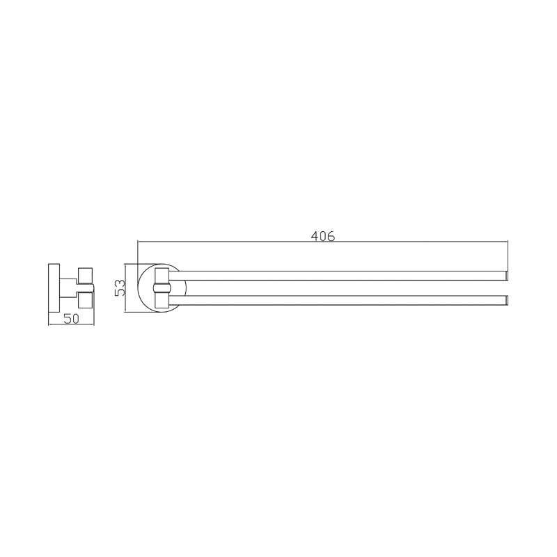 Dvostruki držač peškira SE30113