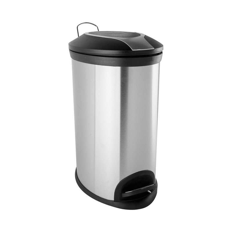 Metalna kanta za smeće 12l satin