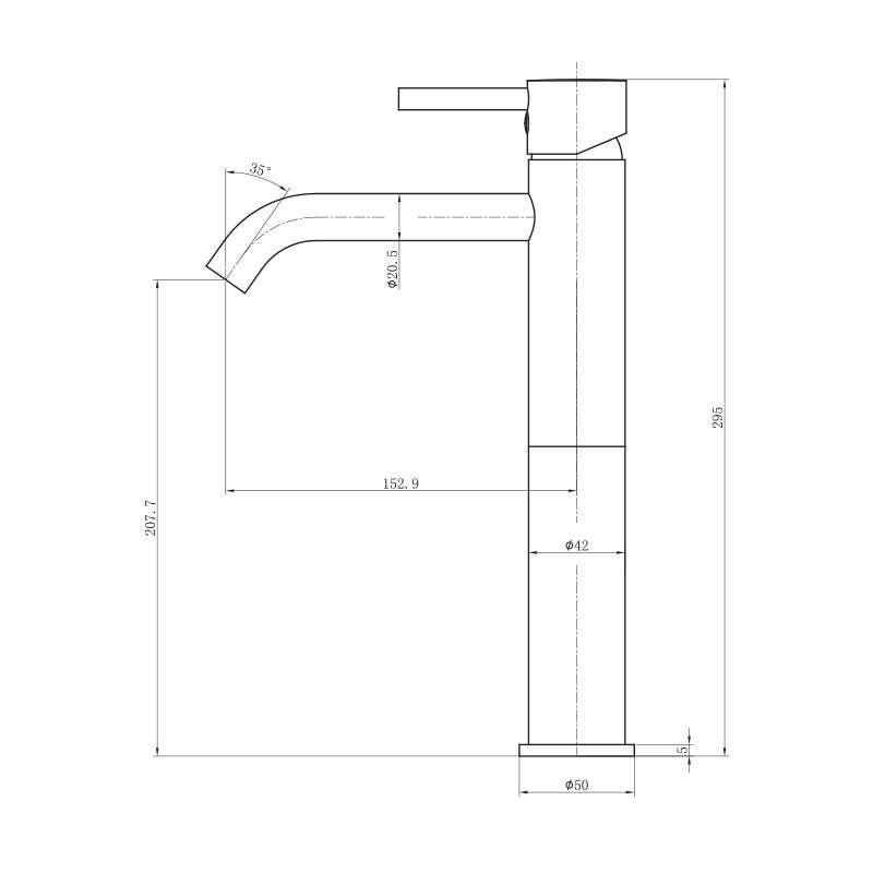 Baterija za lavabo visoka ST2512-1