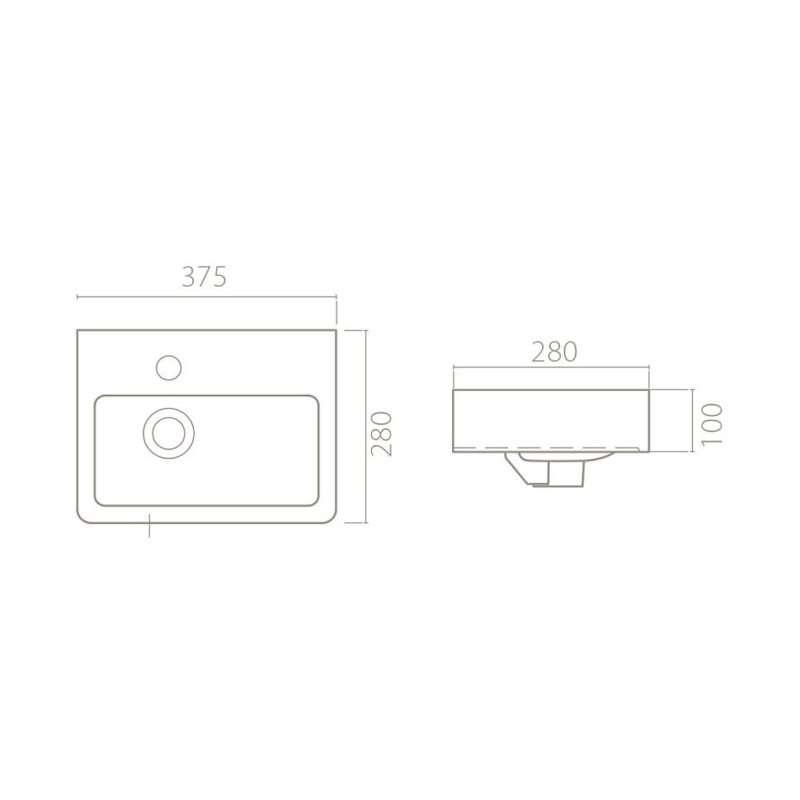 Lavabo Mini 28cm 1400U