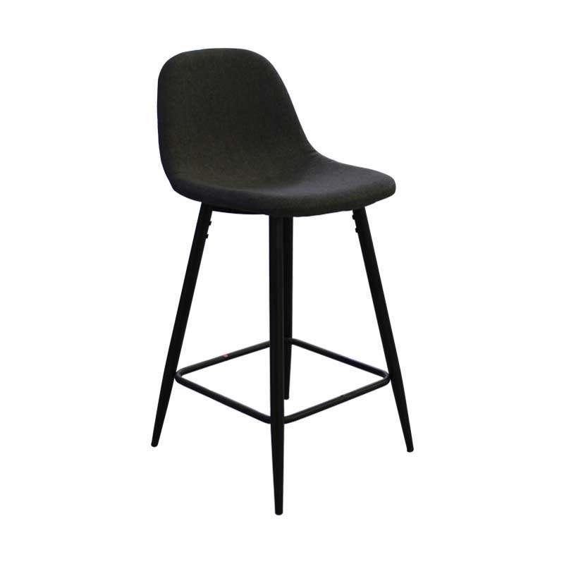 Barska stolica niska crna