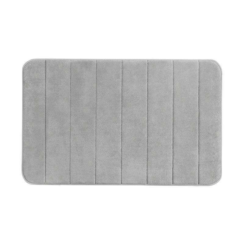 Stripes prostirka od memorijske pene L.Grey 50x80cm