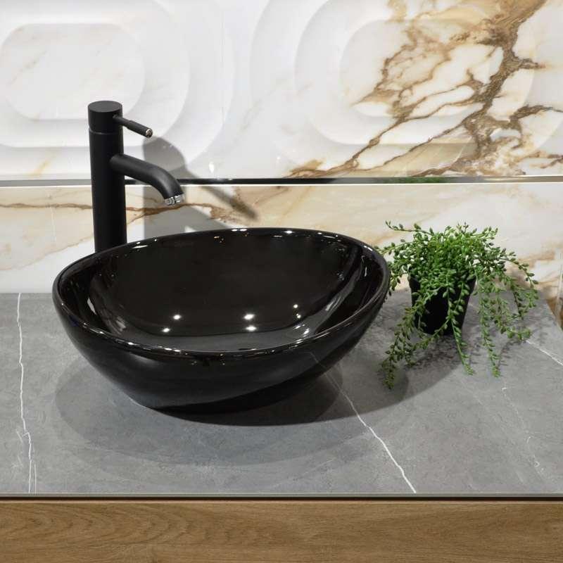 Lima crni nadgradni lavabo