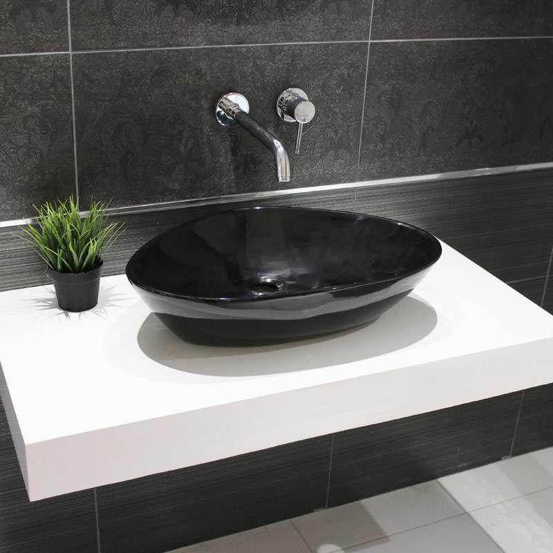 Bali nadgradni lavabo crni