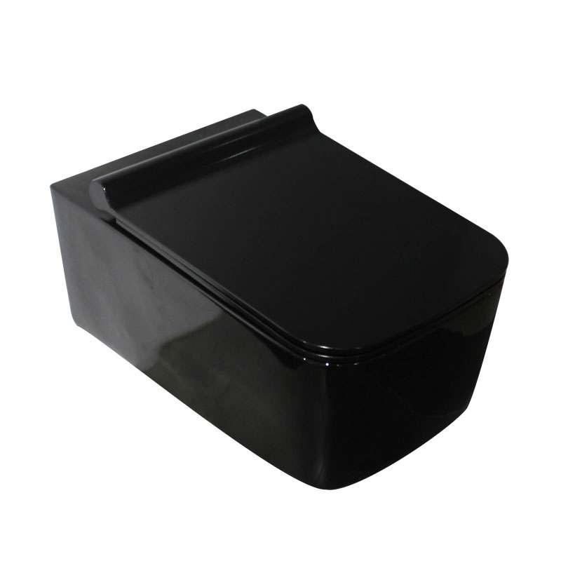 Atina crna konzolna WC šolja